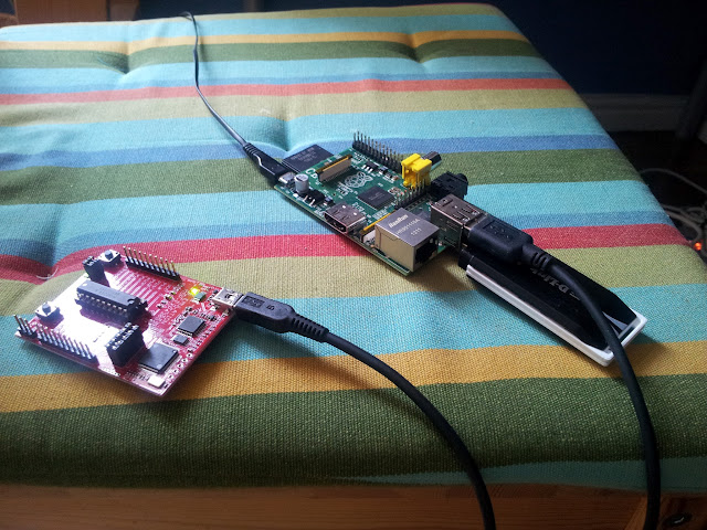 Raspberry Pi and TI Launchpad