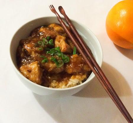Azjatycki kurczak, pierś z kurczaka w pomarańczach, ryż, kurczak słodko kwaśny ,pomarańcze obiad, sos pomarańczowy