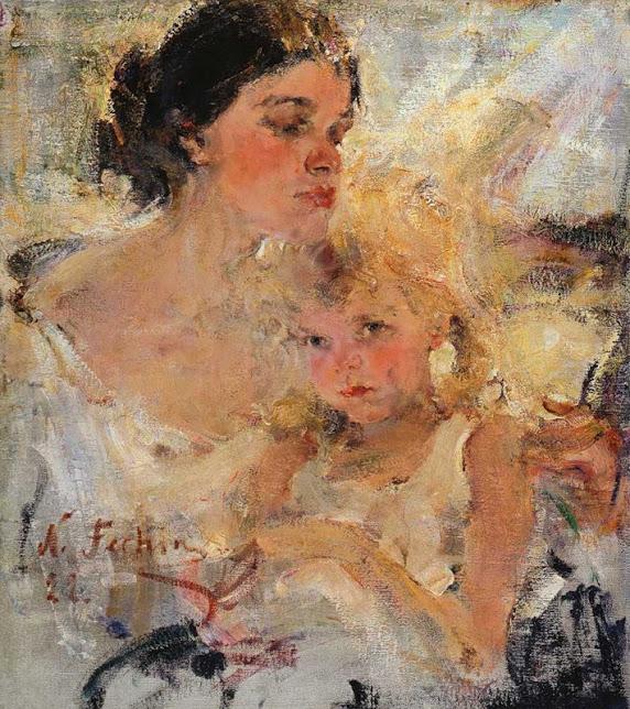 "Фешин картина ""Миссис Фешина с дочерью"""