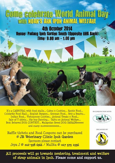 Announcement: Noah's Ark Celebrates World Animal Day
