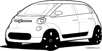 Fiat 500L design sketch 2
