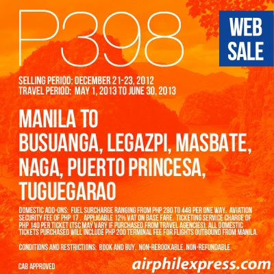 travel, travel deal, seat sale, AirPhil Express promo