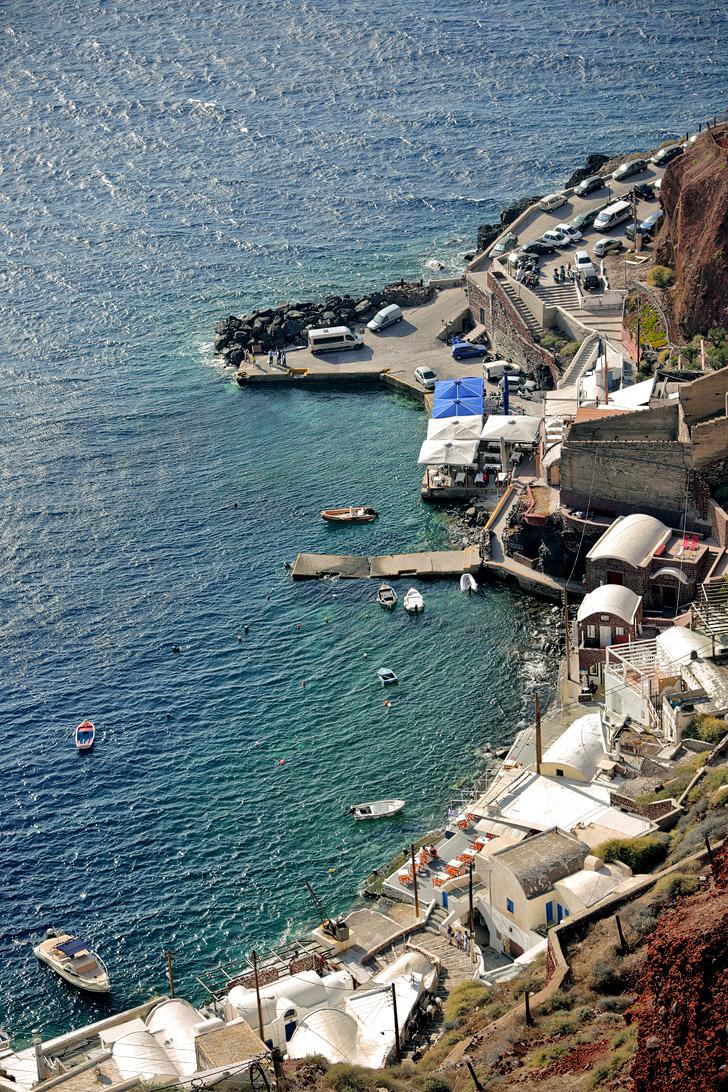 Oia Santorini Port.