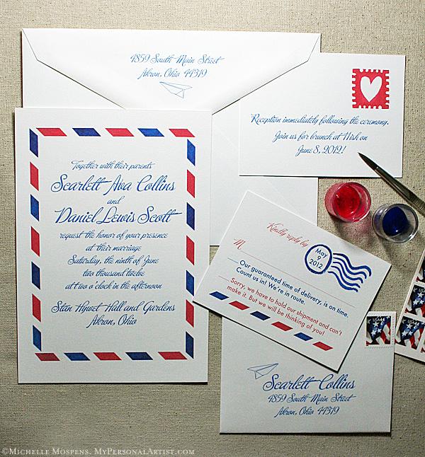Airmail Wedding Invitations: La-La Linh: Trendy Tuesdays: Airmail Wedding Invitations