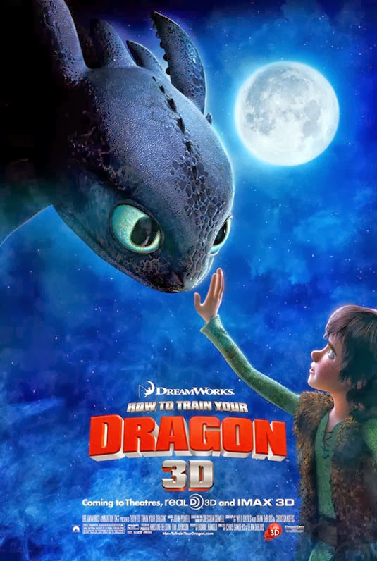 Poster Of How to Train Your Dragon (2010) Full Movie Hindi Dubbed Free Download Watch Online At Alldownloads4u.Com