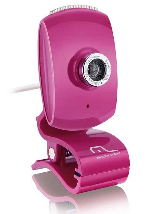 Webcam rosa Multilaser