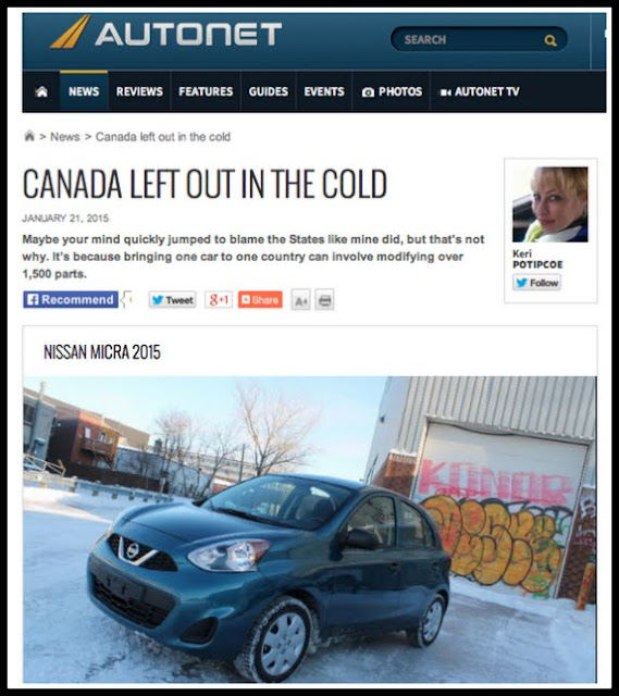 Why Canada Doesn\'t always Get the Car - KeriBlog