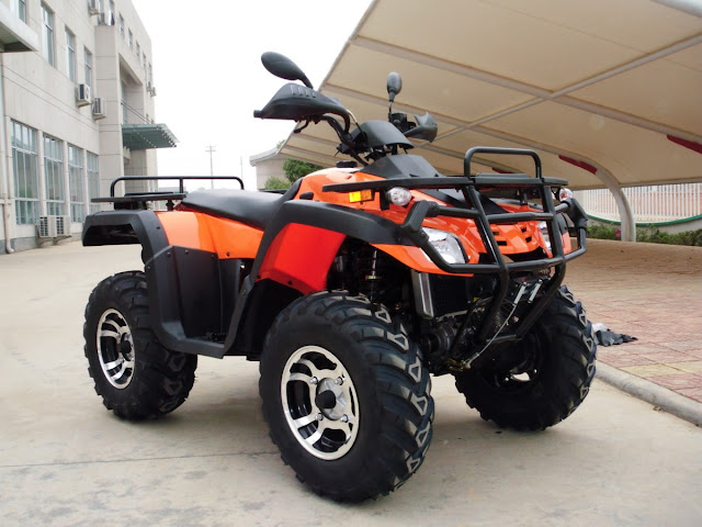 550cc Crossfire Trident EFI V-twin Farm ATV 4x4 Quad Bike Orange