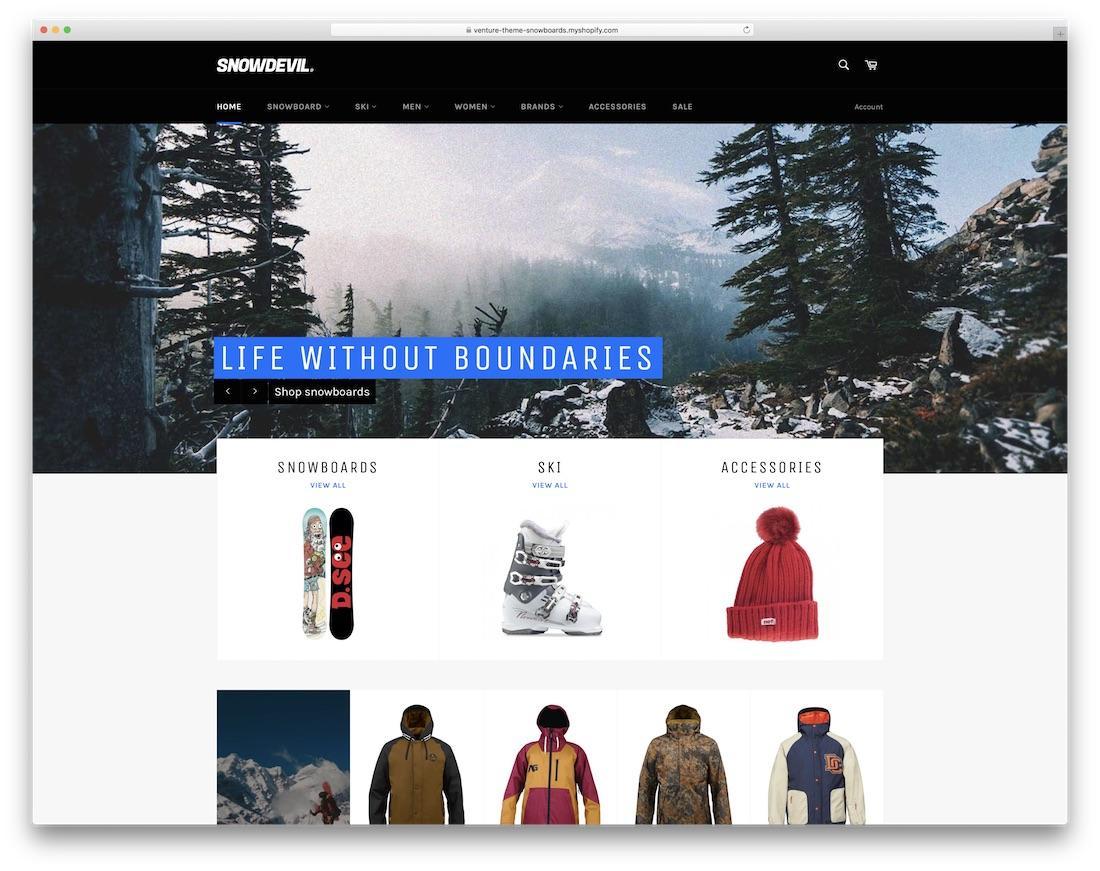snowdevil, migliori temi Shopify