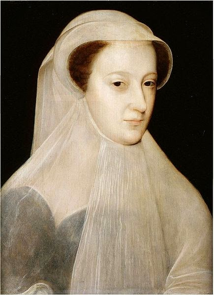 François Clouet - Mary, Queen of Scots in 'white mourning'