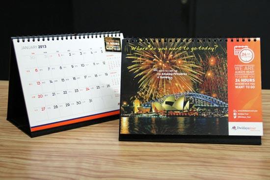 desain kalender meja 2013