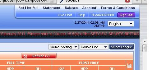 Betting Tutorial: Februari 2011