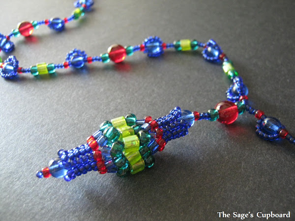 Light Beaded Bead Pendant