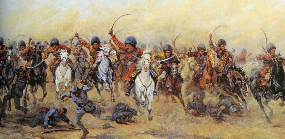 Атака конницы туркмен