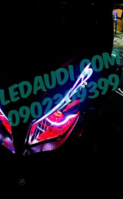 led audi + mắt quỷ airblade