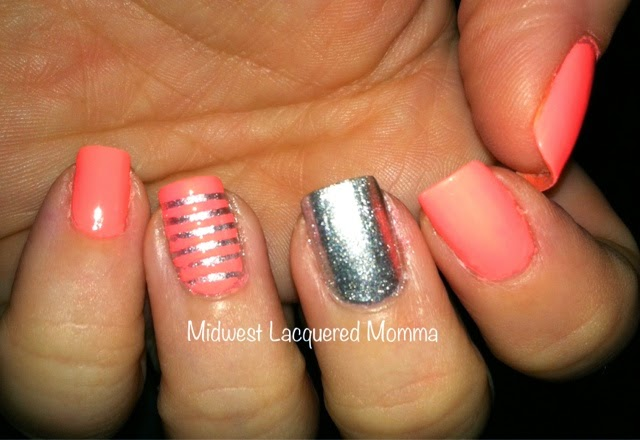 Midwest Lacquered Momma China Glaze Flip Flop Fantasy Nail Art
