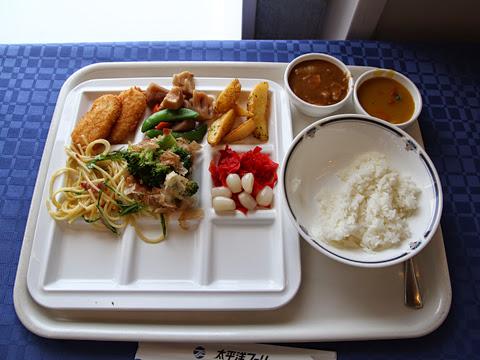 太平洋フェリー「いしかり」 6デッキ レストラン「サントリーニ」 昼食のカレーバイキング