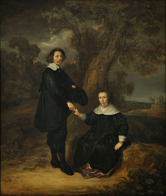 Govaert Flinck - Double portrait of Dirck Graswinckel (1600-1666) en Geertruyt van Loon (1600-1675)