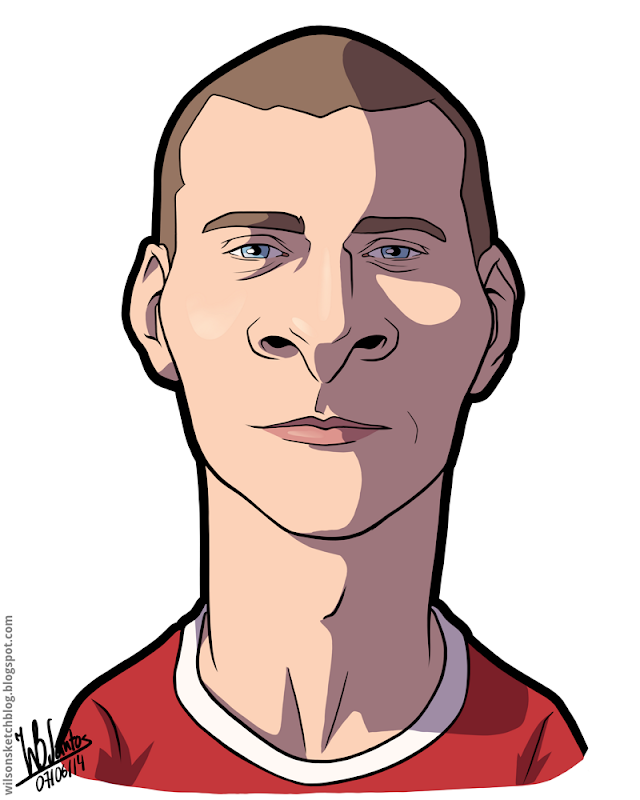 Cartoon caricature of Lindelöf.