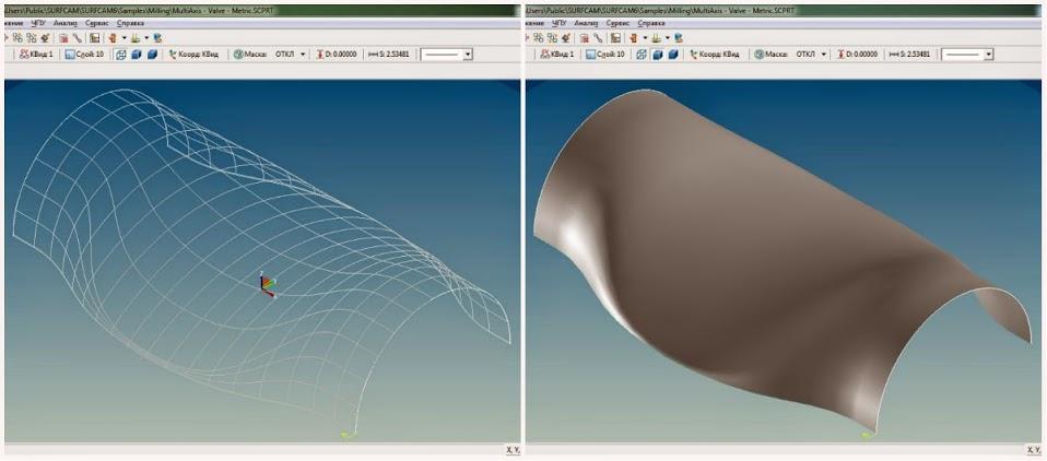 SURFCAM Инструментальные средства проектирования включают двух- и трехмерное каркасное и поверхностное моделирование, а дополнительно и твердотельное параметрическое моделирование