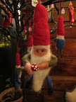The cutest felted gnome (next door, at No.10, in the John Derian Dry Goods store).