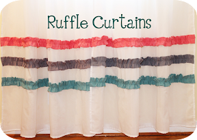 ruffle curtains tutorial