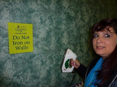 do not iron on walls