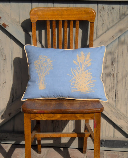 Pampas Shrub pillows