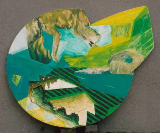 Baviaan Auto - schilderij van Atelier Bram de Haan