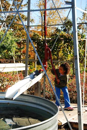 Pump in Farm Garden. From Fall Color Weekend Getaway: Meijer Gardens & Sculpture Park