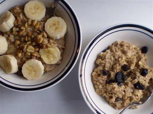 Banana Nut Oatmeal (Note: The ingredients go from the 1 tablespoon ...