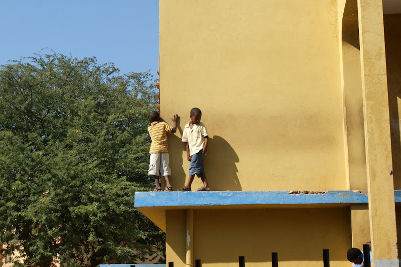 Crianças na escola em Cabo Verde