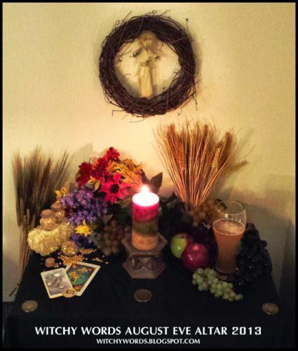 August Eve Lammas 2013 Altar