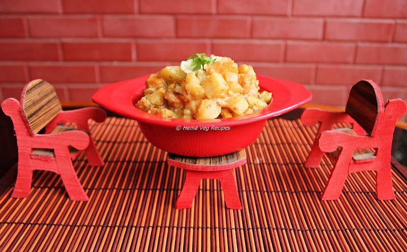 Potato Paneer Kurma/Korma