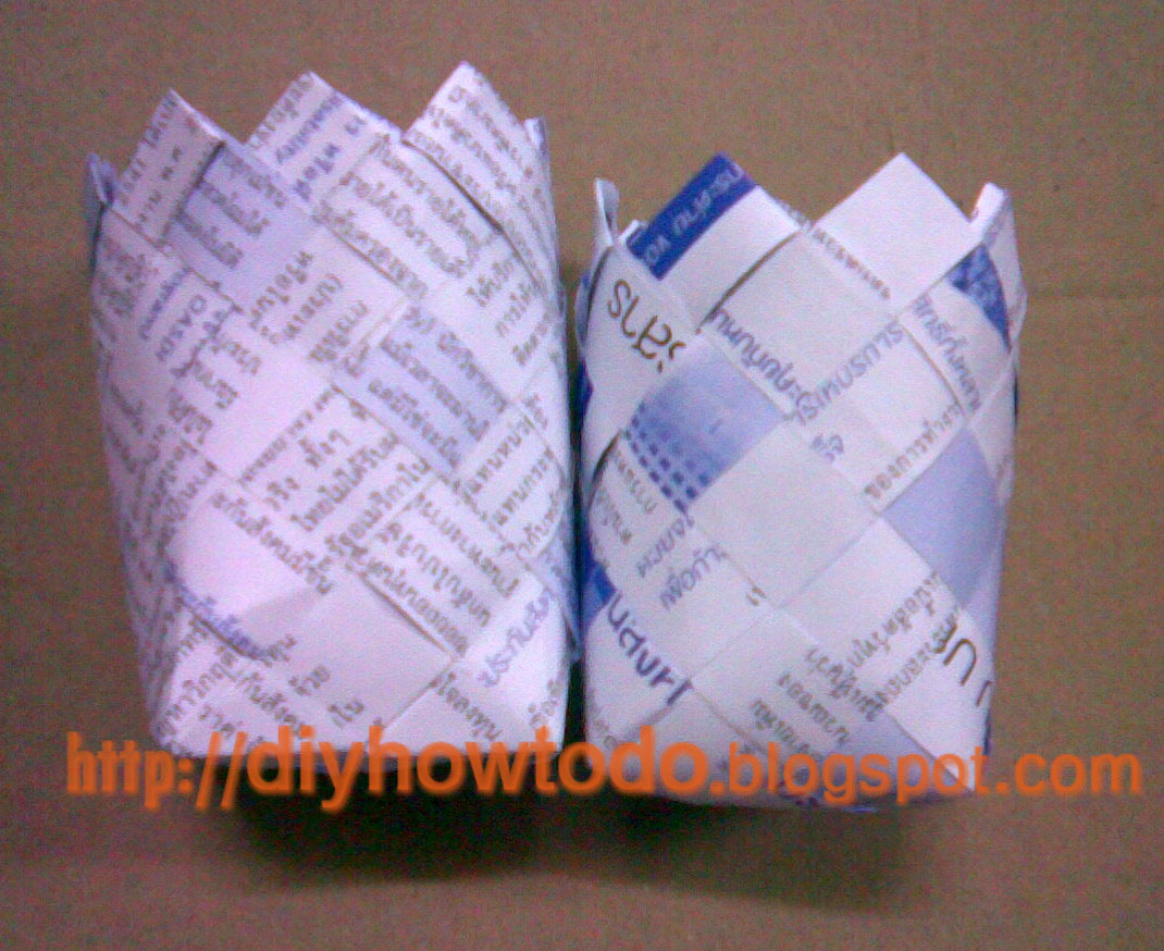 How To Weave A Basket Diy : How to weave quot basket from paper or plastic strips d