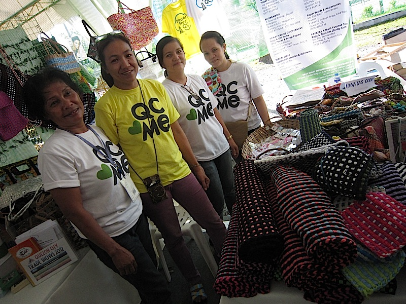 the Quezon City Sikap Buhay stall at the Blue Market social enterprise fair