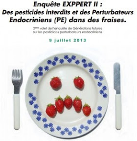 pesticides dans fraises France bébé