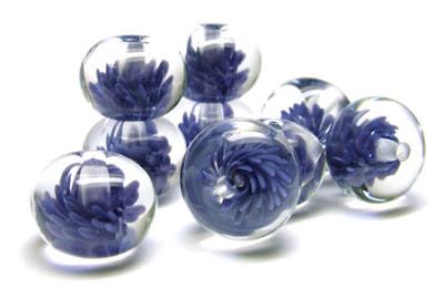 Lampwork Glass 'Flurry' Beads