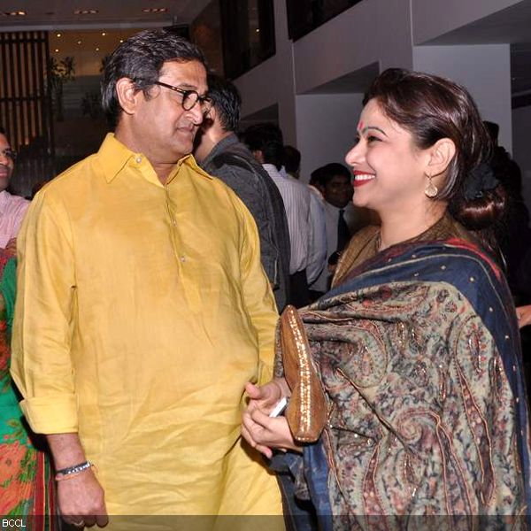 Mahesh Manjrekar with wife Medha seen at the press meet of MIFTA Awards, held in Mumbai, on May 27, 2013. (Pic: Viral Bhayani)