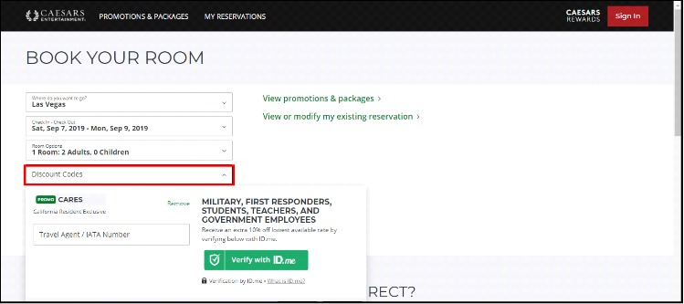 All Caesar Entertainment Promo Codes only work on their official website