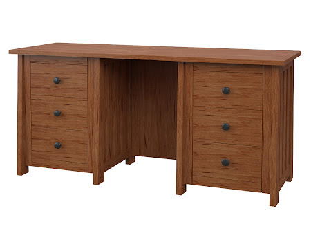 Killion Executive Desk in Vermont Maple
