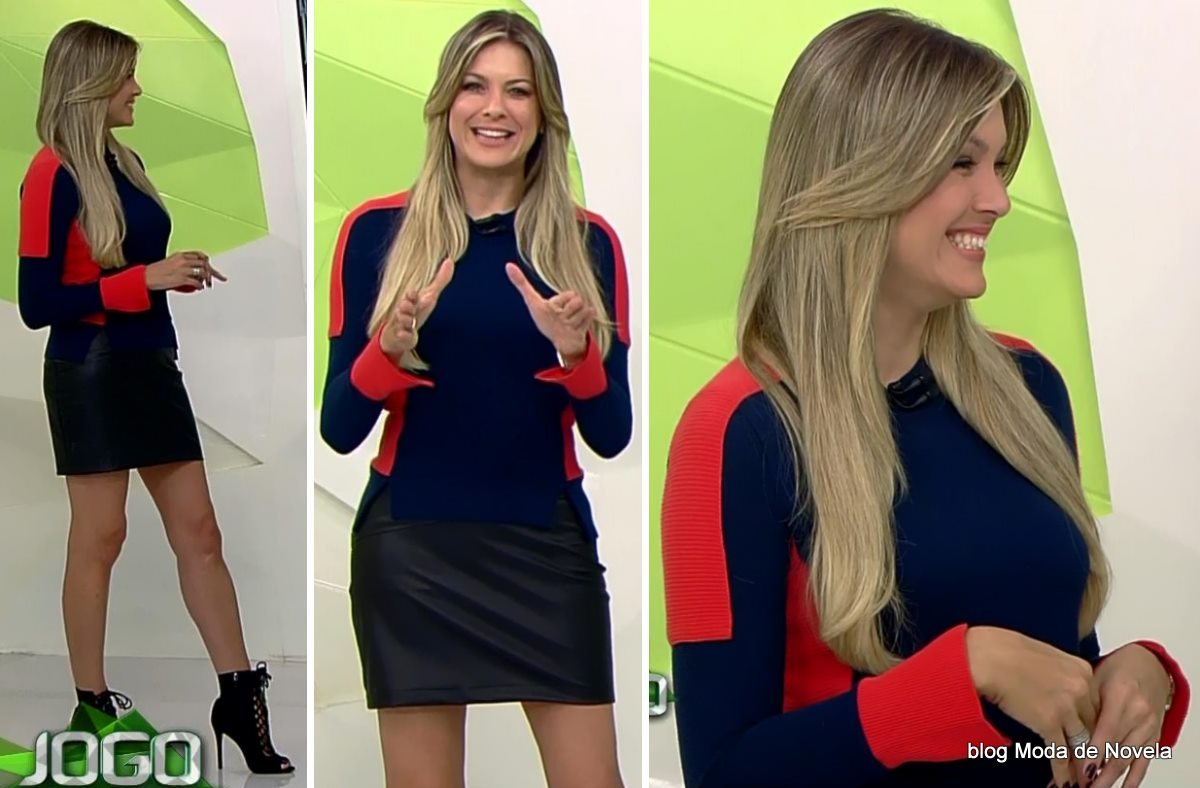 moda do programa Jogo Aberto - look da Renata Fan dia 19 de maio