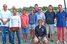 J/80 winners sailing Pornic Cup off France