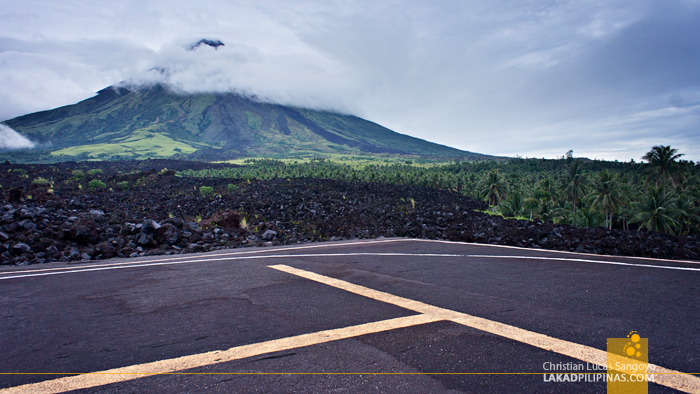 Helipad at the Lava Wall at Mayon's Lava Trail