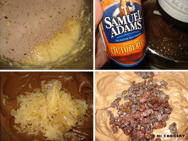 Beer and Sauerkraut Fudge Cupcakes