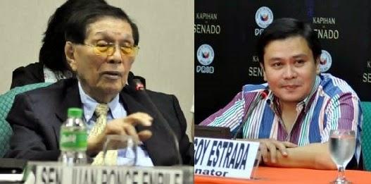 Senators Juan Ponce Enrile and Jinggoy Estrada