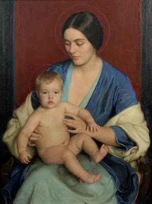William McGregor Paxton - A Modern Madonna