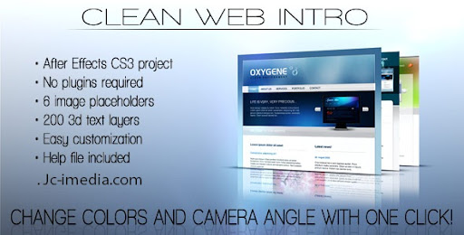 After Effect Project Clean Web Intro