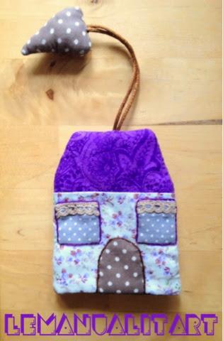 creative sewing: llavero casita home made