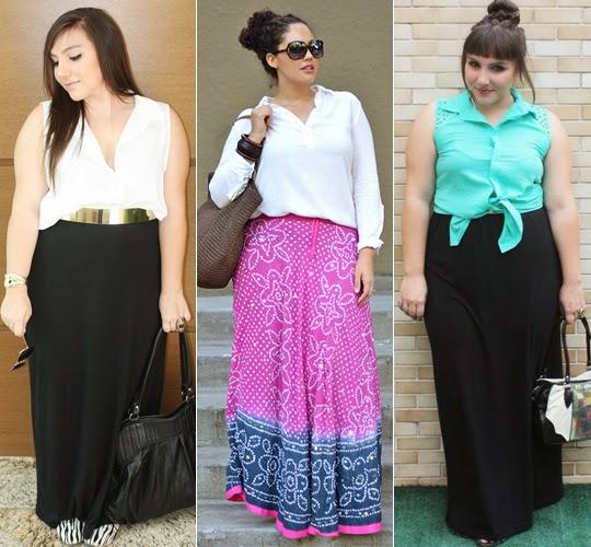 comprar saia longa plus size